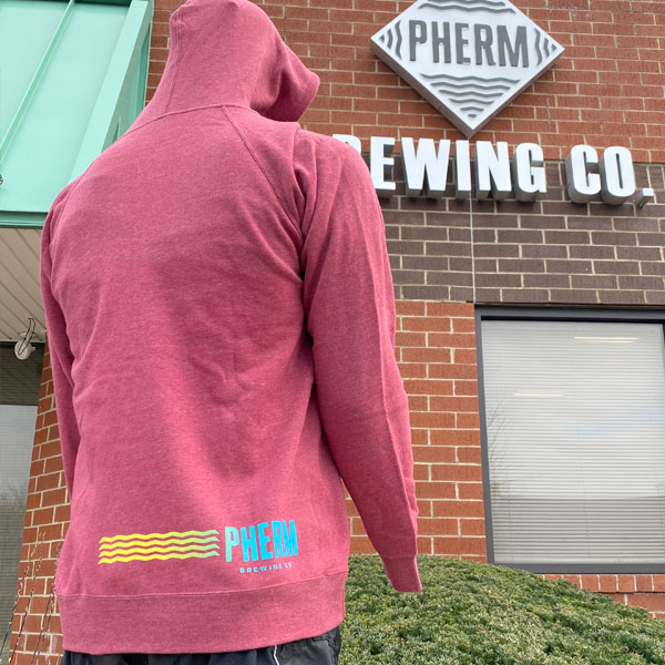 Pherm Hoodie Crimson Back