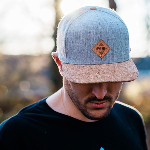 pherm-hat-heather-gray-cork-front